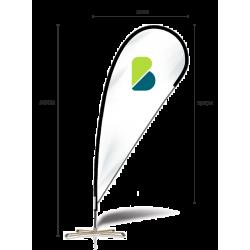 Medidas bandera publicitaria tipo gota